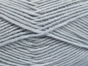 Fiber Content 50% Acrylic, 50% Wool, Light Grey, Brand Ice Yarns, fnt2-65188