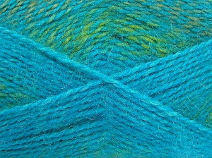 Fiber Content 65% Premium Acrylic, 35% Mohair, Turquoise, Brand Ice Yarns, Green, fnt2-65202