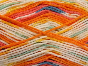 İçerik 65% Premium Akrilik, 35% Polyamid, Yellow, Turquoise, Salmon, Orange, Mint, Brand Ice Yarns, Ecru, fnt2-65210