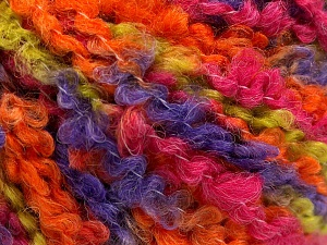 Fiber Content 55% Acrylic, 35% Wool, 10% Polyamide, Purple, Orange, Brand Ice Yarns, Green, Fuchsia, fnt2-65225