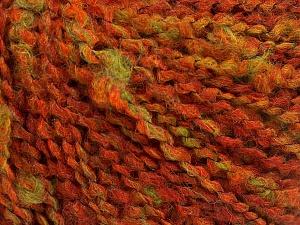 Fiber Content 45% Wool, 45% Acrylic, 10% Polyamide, Orange, Brand Ice Yarns, Green, Dark Orange, fnt2-65245