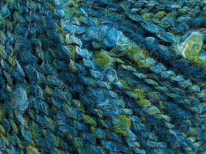 Fiber Content 45% Wool, 45% Acrylic, 10% Polyamide, Brand Ice Yarns, Green, Blue Shades, fnt2-65247