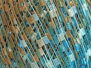 Trellis  Fiber Content 100% Polyester, Light Brown, Brand Ice Yarns, Blue, fnt2-65265
