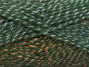 Fiber Content 50% Premium Acrylic, 50% Wool, Brand Ice Yarns, Green Shades, Brown Shades, fnt2-65273
