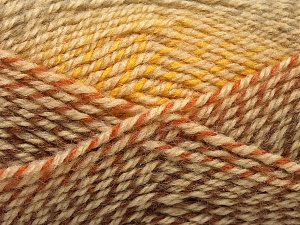 Fiber Content 50% Premium Acrylic, 50% Wool, Brand Ice Yarns, Gold, Brown Shades, fnt2-65274
