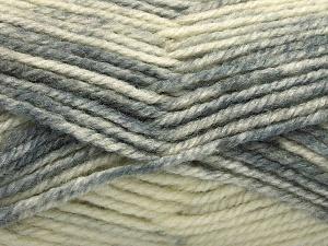 Fiber Content 50% Wool, 50% Premium Acrylic, Brand Ice Yarns, Grey Shades, Beige, fnt2-65277