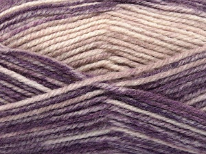 Fiber Content 50% Premium Acrylic, 50% Wool, Purple Shades, Powder Pink, Brand Ice Yarns, fnt2-65290