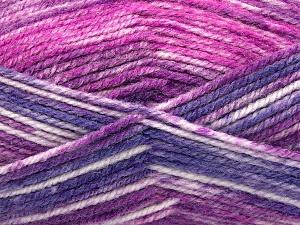 Fiber Content 50% Wool, 50% Premium Acrylic, Purple, Brand Ice Yarns, Fuchsia, fnt2-65291