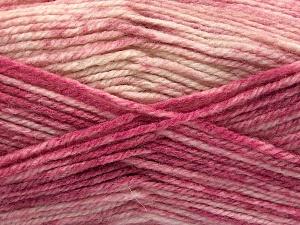 Contenido de fibra 50% Acrílico Premium, 50% Lana, Pink Shades, Brand Ice Yarns, Cream, fnt2-65295