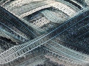 Vezelgehalte 50% Wol, 37% Polyamide, 13% Metallic lurex, Brand Ice Yarns, Grey Shades, Black, Beige, fnt2-65302