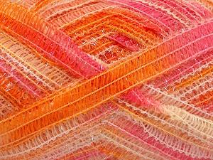 Vezelgehalte 50% Wol, 37% Polyamide, 13% Metallic lurex, Pink, Orange Shades, Brand Ice Yarns, fnt2-65306