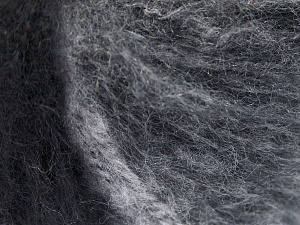 Mohair  Fiber Content 30% Wool, 30% Mohair, 20% Polyamide, 20% Acrylic, White, Brand Ice Yarns, Grey Shades, Black, fnt2-65343