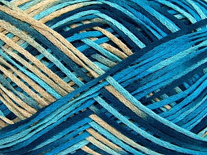 Fiber Content 100% Acrylic, Turquoise, Brand Ice Yarns, Blue, Beige, fnt2-65352