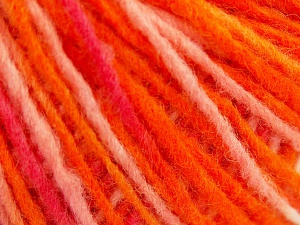Fiber Content 50% Acrylic, 50% Wool, Pink Shades, Orange Shades, Brand Ice Yarns, fnt2-65363