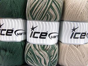 Fiber Content 100% Antipilling Acrylic, Brand Ice Yarns, Green, Beige, fnt2-65370
