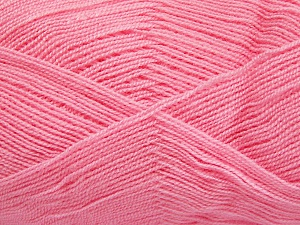 Very thin yarn. It is spinned as two threads. So you will knit as two threads. Yardage information is for only one strand. Fiber Content 100% Acrylic, Light Pink, Brand Ice Yarns, fnt2-65380