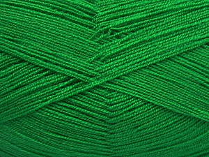 Very thin yarn. It is spinned as two threads. So you will knit as two threads. Yardage information is for only one strand. Fiber Content 100% Acrylic, Brand Ice Yarns, Green, fnt2-65384