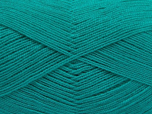 Very thin yarn. It is spinned as two threads. So you will knit as two threads. Yardage information is for only one strand. Fiber Content 100% Acrylic, Brand Ice Yarns, Emerald Green, fnt2-65385
