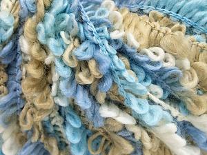 Fiber Content 50% Acrylic, 40% Wool, 10% Polyamide, White, Lilac, Brand Ice Yarns, Blue, Beige, fnt2-65388