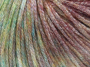 Fiber Content 62% Polyester, 19% Merino Wool, 19% Acrylic, Maroon Shades, Brand Ice Yarns, Green Shades, Yarn Thickness 4 Medium  Worsted, Afghan, Aran, fnt2-65501