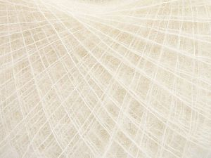 Fiber Content 50% Polyamide, 40% Baby Alpaca, 10% Merino Wool, Brand Ice Yarns, Ecru, Yarn Thickness 0 Lace  Fingering Crochet Thread, fnt2-65541