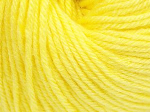 Fiber Content 40% Merino Wool, 40% Acrylic, 20% Polyamide, Light Yellow, Brand Ice Yarns, Yarn Thickness 2 Fine  Sport, Baby, fnt2-65571