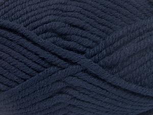 Fiber Content 50% Wool, 50% Acrylic, Brand Ice Yarns, Dark Navy, fnt2-65606