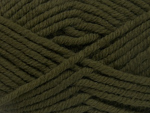 Fiber Content 50% Wool, 50% Acrylic, Khaki, Brand Ice Yarns, fnt2-65611