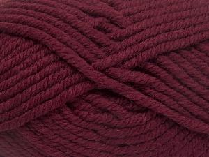 Fiber Content 50% Wool, 50% Acrylic, Brand Ice Yarns, Burgundy, fnt2-65617