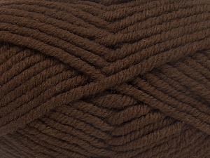 Fiber Content 50% Wool, 50% Acrylic, Brand Ice Yarns, Dark Brown, fnt2-65621