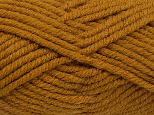 Fiber Content 50% Wool, 50% Acrylic, Brand Ice Yarns, Dark Gold, fnt2-65629
