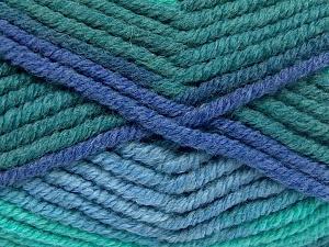 Vezelgehalte 50% Wol, 50% Acryl, Brand Ice Yarns, Green Shades, Blue Shades, fnt2-65640