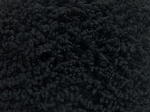 Fiber Content 100% Micro Polyester, Brand Ice Yarns, Black, Yarn Thickness 5 Bulky  Chunky, Craft, Rug, fnt2-65661