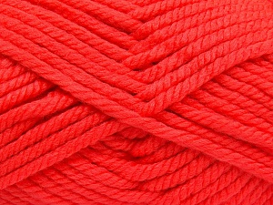 Fiber Content 75% Acrylic, 25% Superwash Wool, Neon Orange, Brand Ice Yarns, Yarn Thickness 6 SuperBulky  Bulky, Roving, fnt2-65692