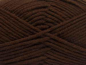 Fiber Content 70% Acrylic, 30% Wool, Brand Ice Yarns, Dark Brown, Yarn Thickness 5 Bulky  Chunky, Craft, Rug, fnt2-65714