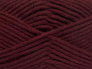 Fiber Content 70% Acrylic, 30% Wool, Brand Ice Yarns, Burgundy, fnt2-65720