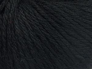 Fiber Content 40% Merino Wool, 40% Acrylic, 20% Polyamide, Brand Ice Yarns, Black, fnt2-65725