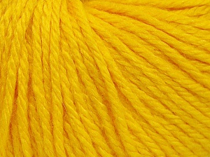 Fiber Content 40% Acrylic, 40% Merino Wool, 20% Polyamide, Yellow, Brand Ice Yarns, fnt2-65734