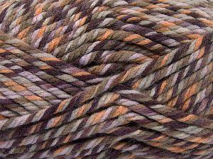 Fiber Content 75% Acrylic, 25% Superwash Wool, Purple Shades, Khaki, Brand Ice Yarns, Gold, fnt2-65758