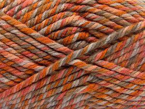Fiber Content 75% Acrylic, 25% Superwash Wool, Orange Shades, Brand Ice Yarns, Camel, Beige, fnt2-65761