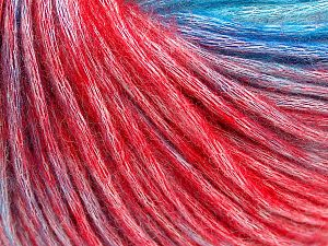 Fiber Content 50% Modal, 35% Acrylic, 15% Wool, Turquoise Shades, Red Shades, Brand Ice Yarns, fnt2-65853