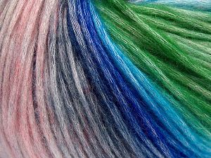 Fiber Content 50% Modal, 35% Acrylic, 15% Wool, Pink Shades, Brand Ice Yarns, Green, Blue Shades, fnt2-65855