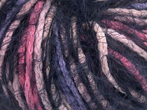 Fiber Content 60% Acrylic, 40% Polyamide, Pink, Navy, Lilac, Brand Ice Yarns, fnt2-65887