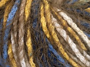 İçerik 60% Akrilik, 40% Polyamid, Yellow, White, Khaki, Brand Ice Yarns, Blue, Yarn Thickness 5 Bulky  Chunky, Craft, Rug, fnt2-65890