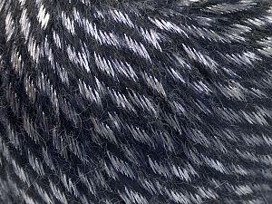 Fiber Content 70% Polyamide, 19% Merino Wool, 11% Acrylic, Silver, Purple, Brand Ice Yarns, fnt2-65897