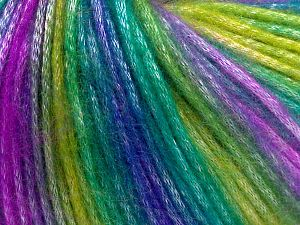 Fiber Content 56% Polyester, 44% Acrylic, Lilac, Brand Ice Yarns, Green Shades, Blue, fnt2-65936