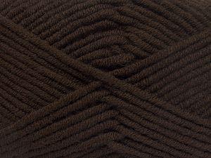 Fiberinnehåll 50% Akryl, 50% Merino, Brand Ice Yarns, Coffee Brown, fnt2-65941