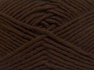 Fiberinnehåll 50% Merino, 50% Akryl, Brand Ice Yarns, Dark Brown, fnt2-65942