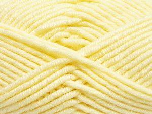 Fiberinnehåll 50% Merino, 50% Akryl, Lemon Yellow, Brand Ice Yarns, fnt2-65945
