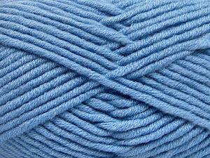 Fiberinnehåll 50% Merino, 50% Akryl, Light Blue, Brand Ice Yarns, fnt2-65955